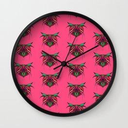 Tribal Cats 2 Wall Clock