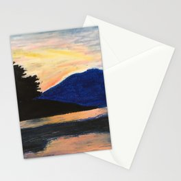 Canoeing at Sunset Stationery Cards