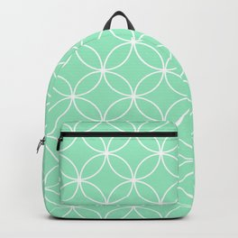 Crossing Circles - Mint Backpack