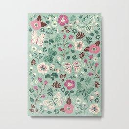 Garden Butterflies Metal Print
