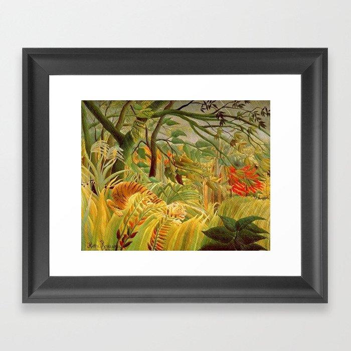 Henri Rousseau Tiger In A Tropical Storm Gerahmter Kunstdruck