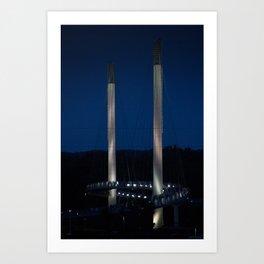 Omaha Pedestrian Bridge Art Print