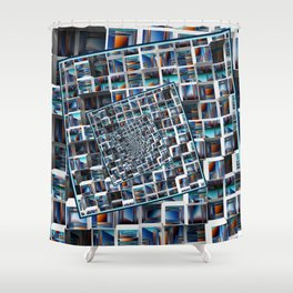 Abstract Infinity Shower Curtain