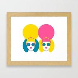 Glam Girls Framed Art Print