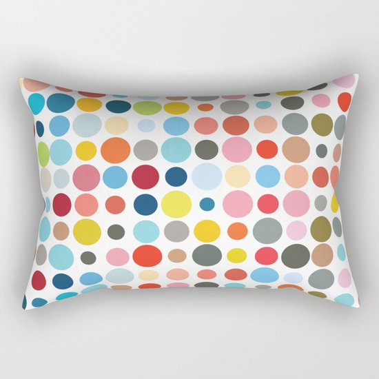 Tangled Up In Colour Rectangular Pillow