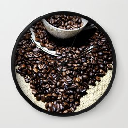 coffee art Wall Clock
