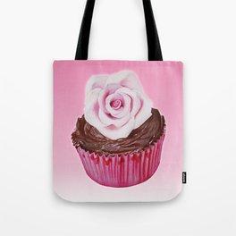 Cupcake with rose Tote Bag