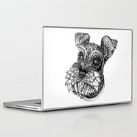 schnauzer Laptop & iPad Skins featuring Ornate Schnauzer by Adrian Dominguez
