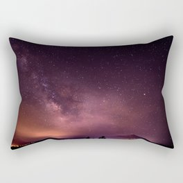 Purple Sky over Mountains Rectangular Pillow