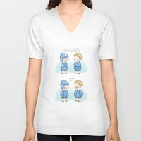 bucky barnes V-neck T-shirts featuring Hats - Steve Rogers and Bucky Barnes  by BlacksSideshow