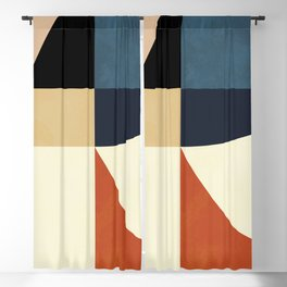 mid century abstract shapes fall winter 14 Blackout Curtain