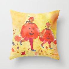 Children's Halloween Print Throw Pillow
