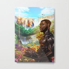 Black Panther the Warrior King Metal Print