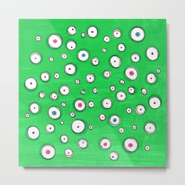 All Eyes on You - Green Metal Print