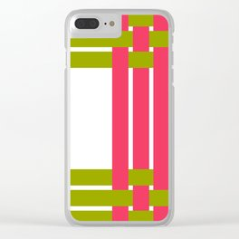 The intertwining pink and green ribbons Clear iPhone Case