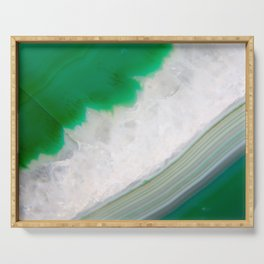 Green Agate Geode // Title: Cool on Your Island Serving Tray