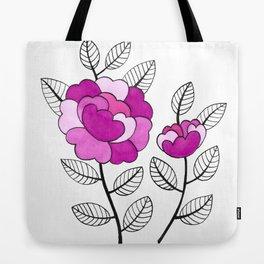 Rosette Mauve Tote Bag
