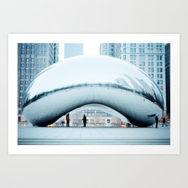Lonely Chicago Icon Art Print