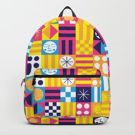 Midcentury Summertime Quilt Backpack