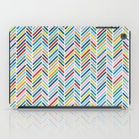 herringbone iPad Cases featuring Herringbone Colour by Project M