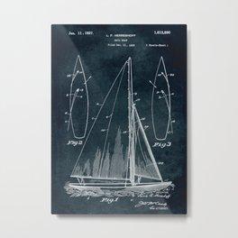 1925 Sail boat patent art Metal Print