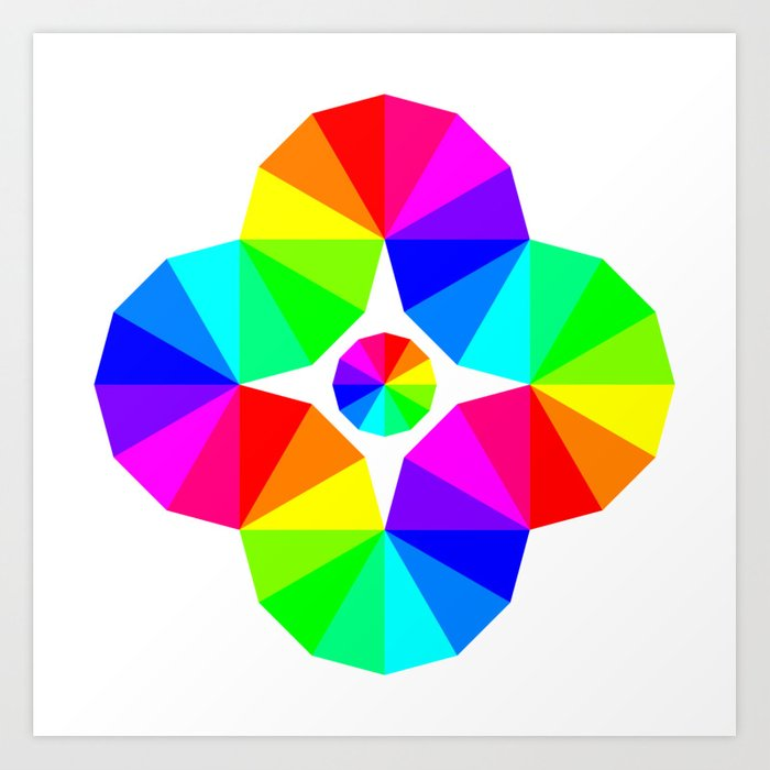 Twisted 12 Color Wheel Eye Art Print By Chandlerklebs Society6