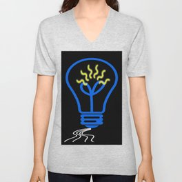 light bulb Unisex V-Neck