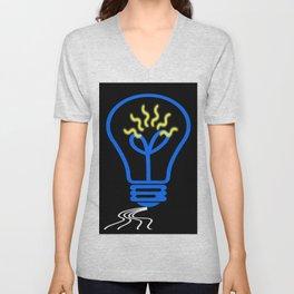 light bulb Unisex V-Neck