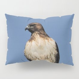 Red-Tailed Hawk on Watch at Foothill and B Street Pillow Sham