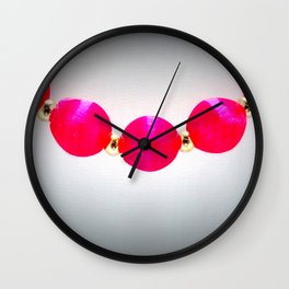 Hot Pink Mod Beads Wall Clock