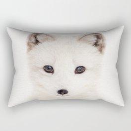 Baby Fox, Baby Animals Art Print By Synplus Rectangular Pillow