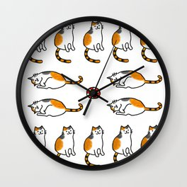 Calico Cat Pattern Wall Clock