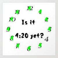 420 Clock Art Print