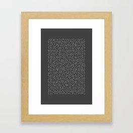 nails Framed Art Print