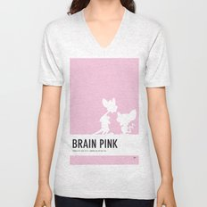 No01 My Minimal Color Code poster Pinky and the Brain Unisex V-Neck