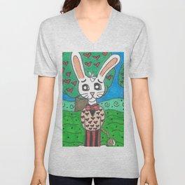 Card Soldier and White Rabbit Unisex V-Neck