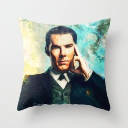 Man Out Of His Time Throw Pillow
