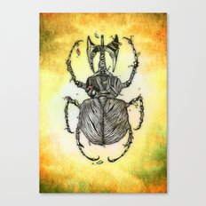 Sr Coprofago - Beetle shit Canvas Print