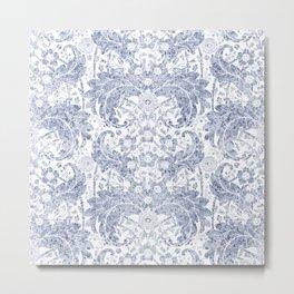 """Blue watercolor flower design """"Beata"""" Metal Print"""