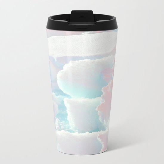 Broken Ice Pastel Texture Metal Travel Mug
