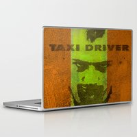 taxi driver Laptop & iPad Skins featuring Taxi Driver by Joe Ganech
