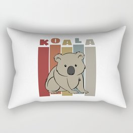Cute Retro Koala Rectangular Pillow