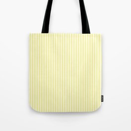 Classic Small Highlighter Yellow Pastel Highlighter French Mattress Ticking Double Stripes Tote Bag
