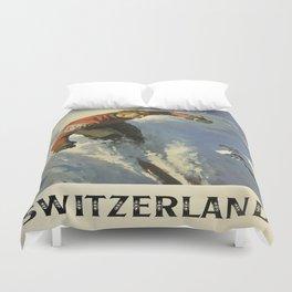 Vintage poster - Switzerland Duvet Cover