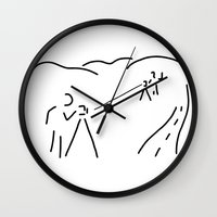 engineer Wall Clocks featuring measurement engineer cartographer geoinformation by Lineamentum