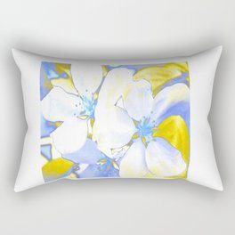 Bathed in Gold and Blue Rectangular Pillow