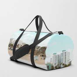 Travel photography Santa Monica VI beach view Duffle Bag
