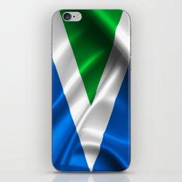 Vegan Flag on soft and shiny clothing iPhone Skin