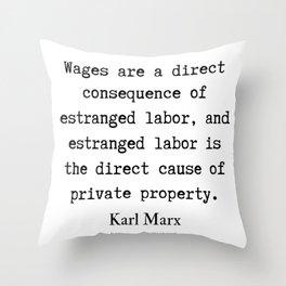 54      Karl Marx Quotes   190817 Throw Pillow