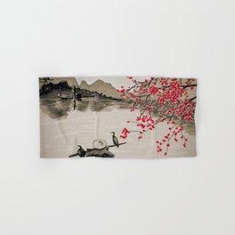 Japan Crane Fishing Hand & Bath Towel